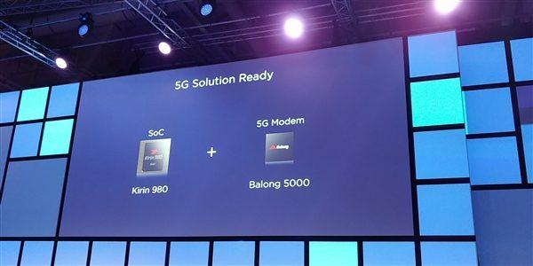 华为980处理器支持5G 可搭配华为balong5000基带