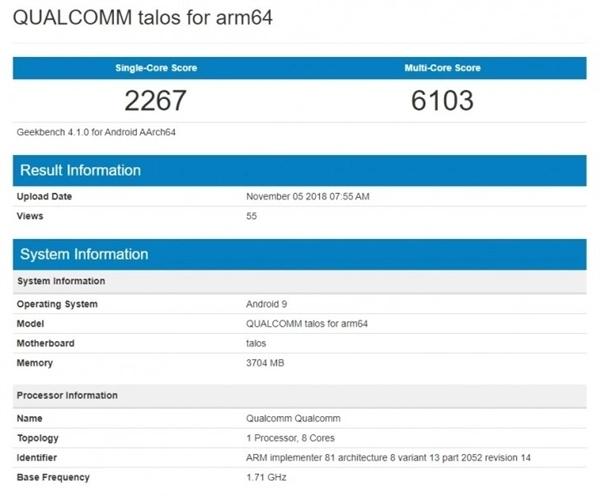 骁龙675 GeekBench 4.1跑分曝光 性能超越骁龙835