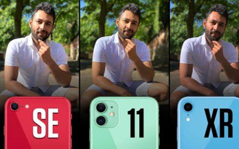 iPhone SE/11/XR 相机对比测试-Mrwhosetheboss中英