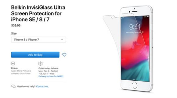 新款iPhone SE确认4.7英寸屏幕:苹果官网更新iPhone SE屏幕保护膜