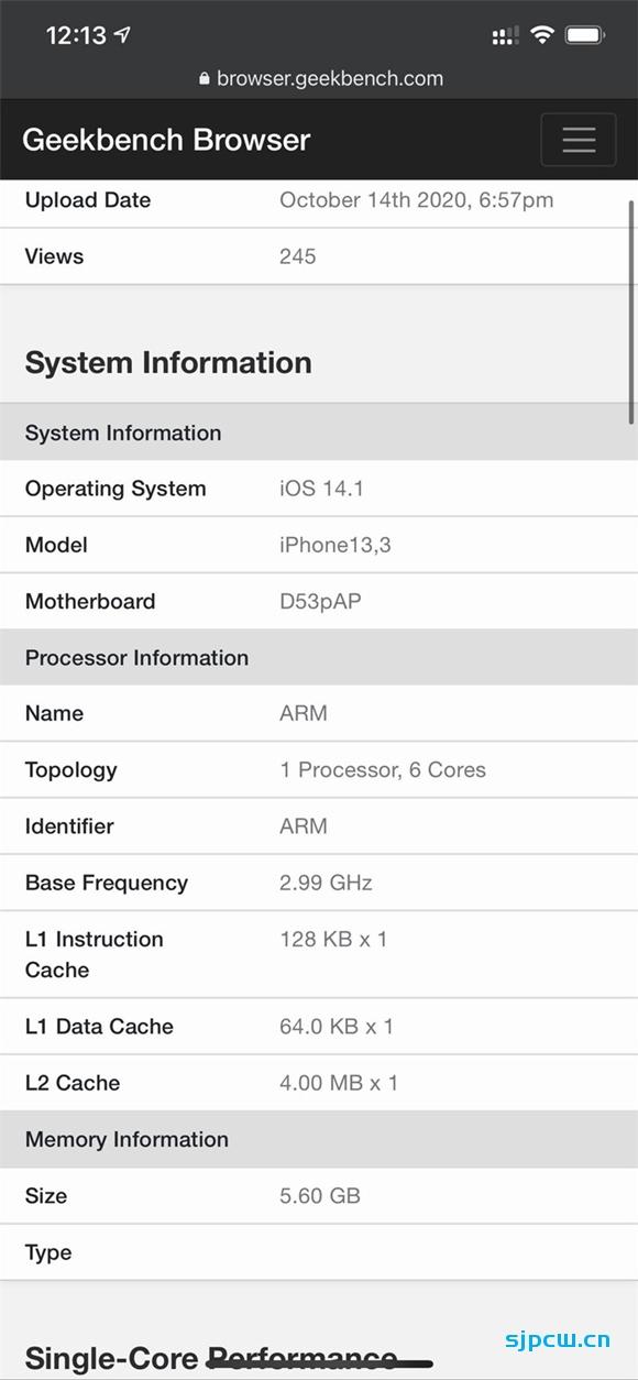 iPhone 12系列运行内存(RAM)大小确定:最高6GB