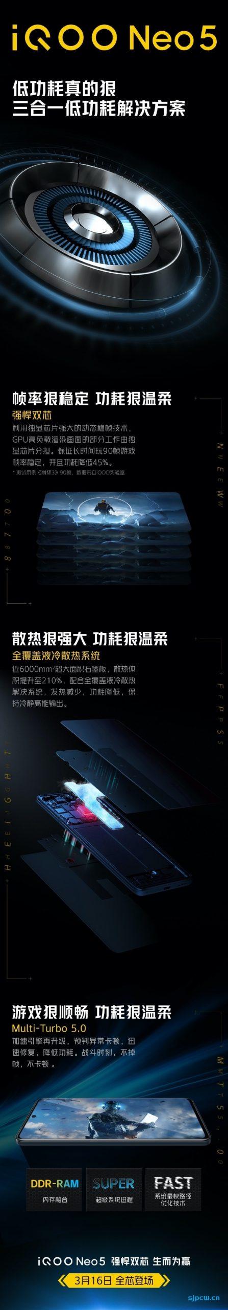 iQOO Neo5官宣将搭载独显芯片:分担GPU压力,功耗降低45%