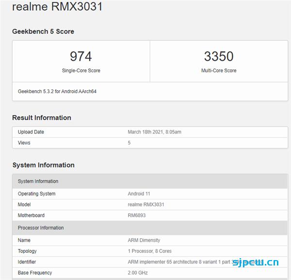 Realme GT Neo Geekbench5跑分曝光:搭载天玑1200处理器,跑分跟晓龙870旗鼓相当